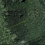 Abstand zwischen Bergspitze und Bergfuß