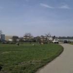 Letzter Blick auf den Landeplatz ... und heim