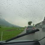 Auf der Flucht vor dem Regen, ob wir es schaffen?