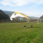 Landung des Tandem mit Georg