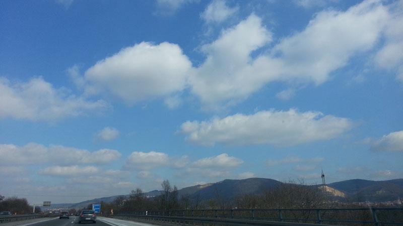 Wolken über Schriese