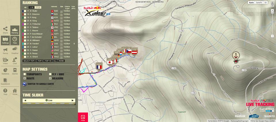X-Alps 2013 Livetracking