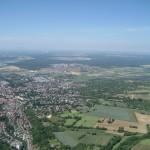 Blick nach Bruchsal und Forst