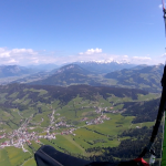 Blick Richtung Hohe-Salve und Kaisergebirge